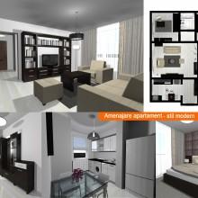 Amenajare interioara apartament modern