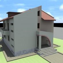 Proiect casa cu acoperiș înclinat