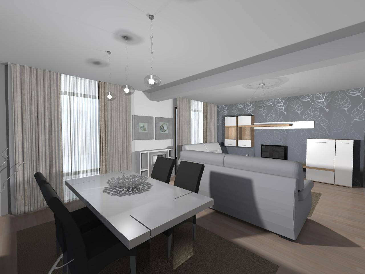 Amenajare living modern for Moderne living